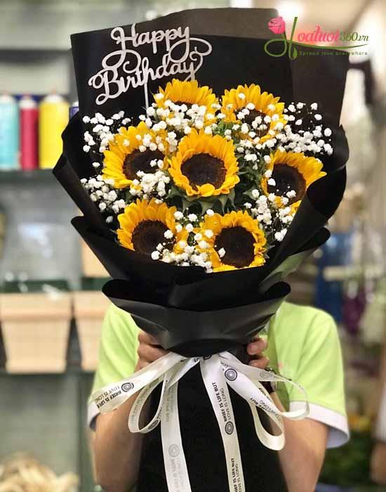 Hoa mừng sinh nhật tượng trưng cho thầy trò mãi thân thiết