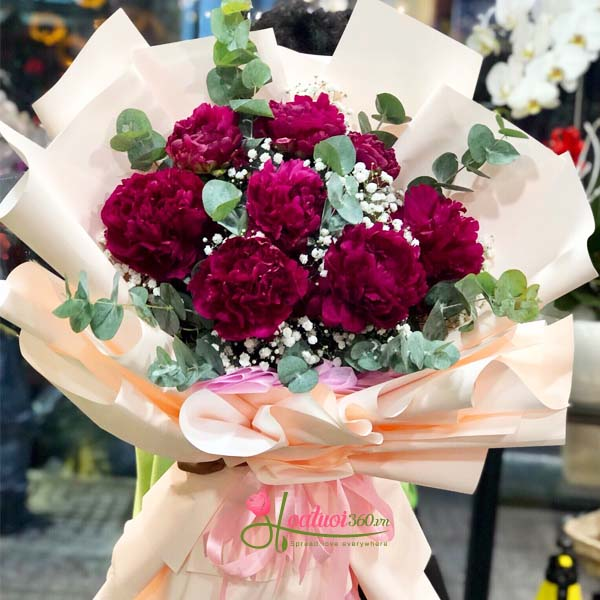 Hoa mừng sinh nhật màu tím tặng mẹ