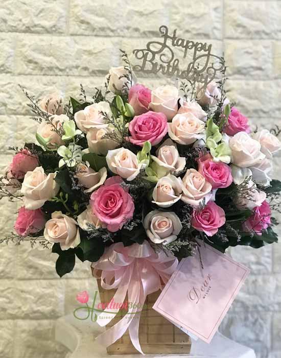 Những mẫu hoa sinh nhật đẹp có xu hướng nhẹ nhàng thích hợp tặng ông bà