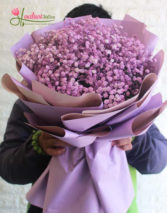 Bó hoa baby tím mang nhiều ý nghĩa