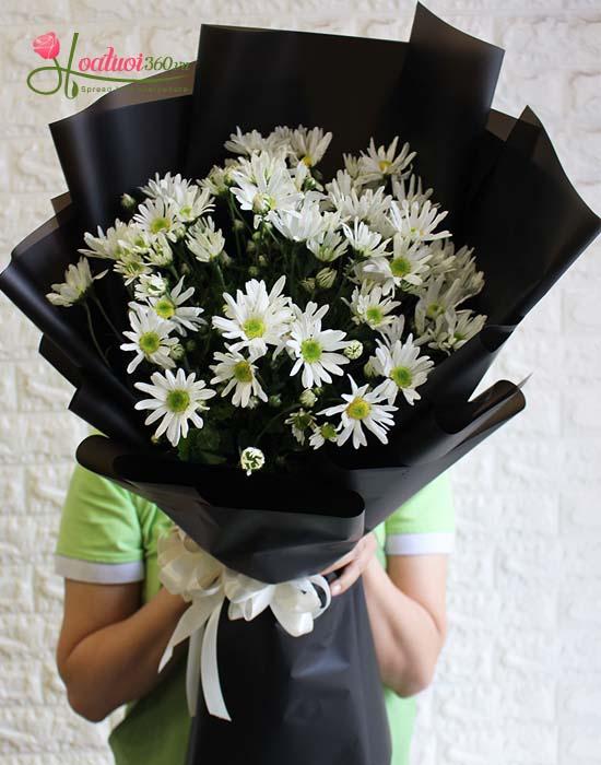 Bó hoa cúc họa mi - Hà Nội ngày đông về