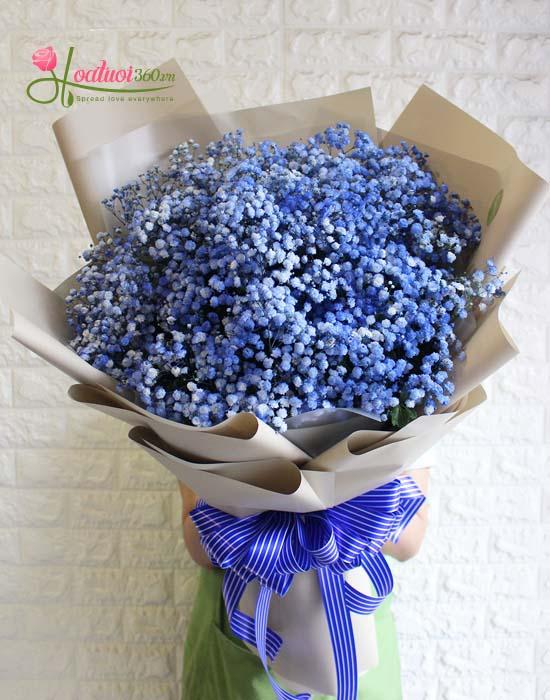 Bó hoa baby xanh tặng bạn gái ngày 20/10 tượng trưng cho tình yêu vĩnh cữu