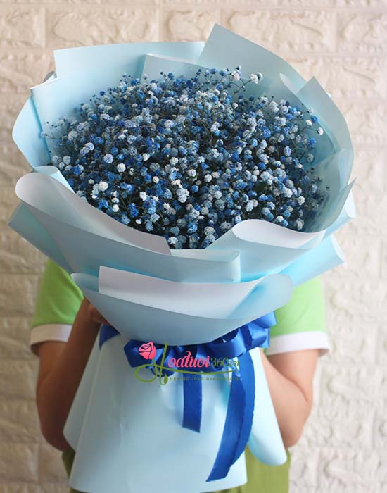 gói hoa baby đẹp