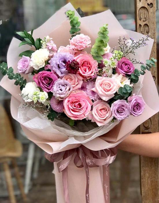 Bó hoa hồng đỏ tặng vợ 20/10 tuyệt đẹp
