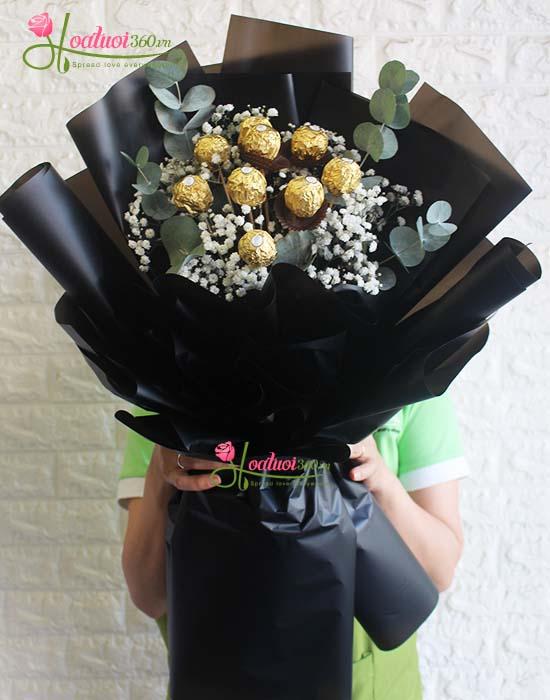 Bó hoa socola