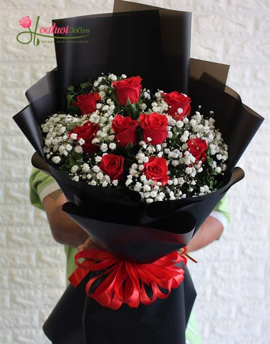 Hoa chúc mừng 20-11- bó hồng tặng cô