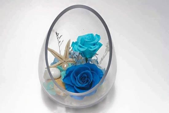 Hoa hồng xanh để bàn tuyệt đẹp