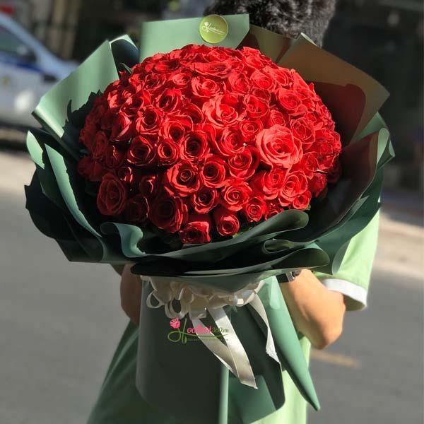 bó hồng đỏ tặng valentine