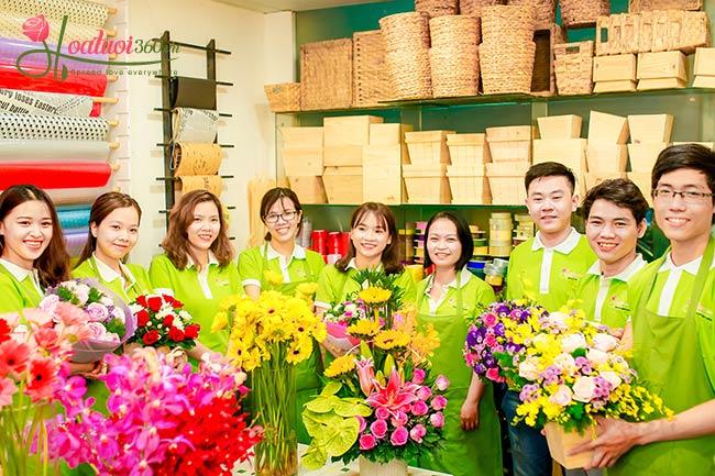 đội ngũ nhân viên Hoa tươi 360