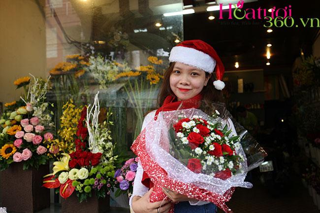 Hoa tươi giáng sinh mang đến thông điệp tuyêt vời